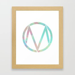 The Maine | Watercolor 'M' Framed Art Print