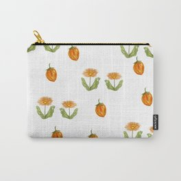 orange daisies on a summer day Carry-All Pouch