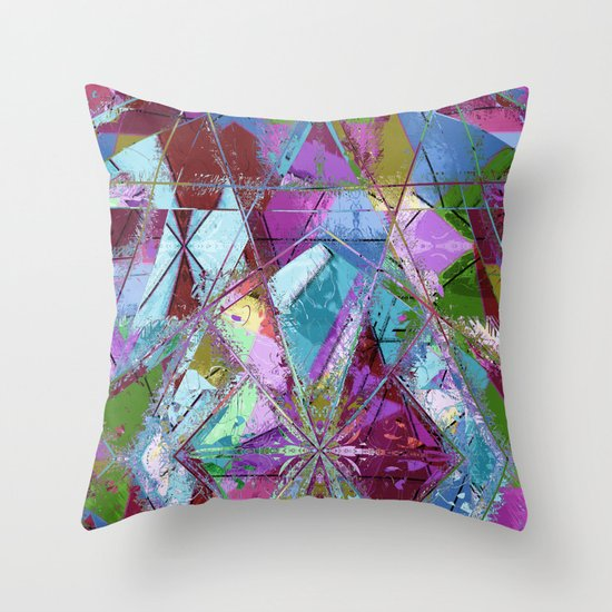 Abstract geometrics Throw Pillow