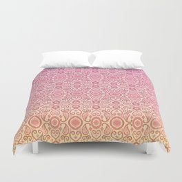 Ikat Sunset Pink Yellow Fade Pattern Duvet Cover