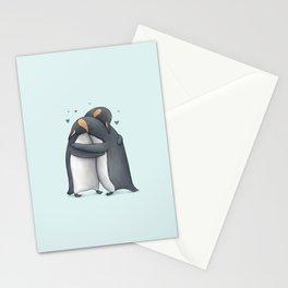 Penguin Hug Stationery Cards