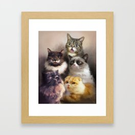 Cats On The Internet Framed Art Print