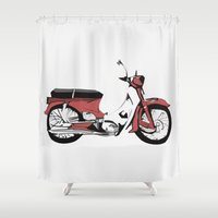 motorbike Shower Curtains featuring Motorbike by Ryan Ly