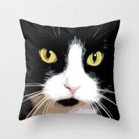 merlin Throw Pillows featuring MERLIN by SAMHAIN