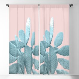 Blush Cactus #1 #plant #decor #art #society6 Blackout Curtain