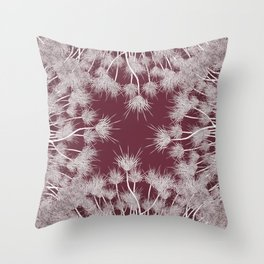 Hibiscus meets Pandanus (St. Damien 7) Throw Pillow