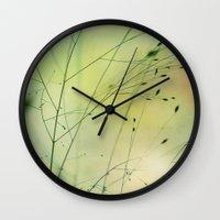 grass Wall Clocks featuring Grass by Lena Weiss