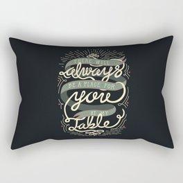 At My Table Rectangular Pillow