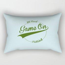 Pickleball Game On! Mt. Hood Rectangular Pillow