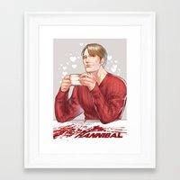 hannibal Framed Art Prints featuring Hannibal by Drag Me To Work