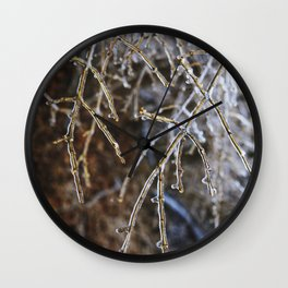 Icy Branches #4 Wall Clock