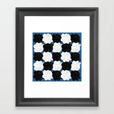 Blue Roses Framed Art Print