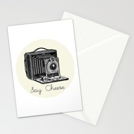Say Cheese Vintage Camera Stationery Cards