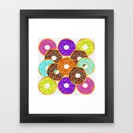 Doughnut Disturb Me When I'm Eating Framed Art Print