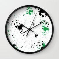 splatter Wall Clocks featuring Splatter by Inphocus Photography