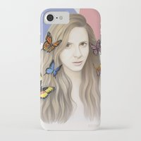 karen hallion iPhone & iPod Cases featuring Karen by Anya Timofeeva