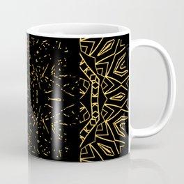 256 15 Tribal Gold on Black Coffee Mug