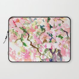 cherry blossom spring floral pattern Laptop Sleeve