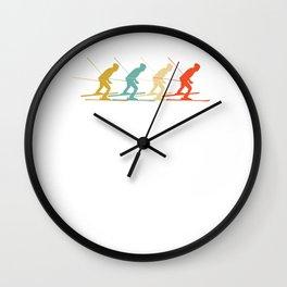 Cross-Country Skiing Wall Clock