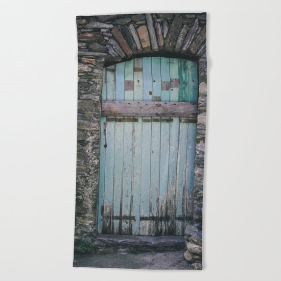 Old Blue Door II Beach Towel