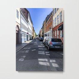 Lazy Summer Days in Old Town Copenhagen Denmark Metal Print