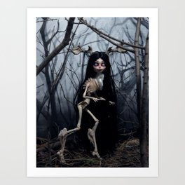 Wendigo in the Woods Art Print