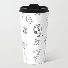 School pattern on white Travel Mug