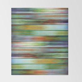 Colorful Metal Ribbons Pattern Throw Blanket
