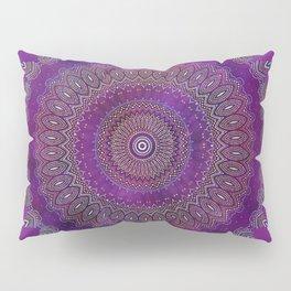 Precious Mandala in rich purple and pink tones Pillow Sham