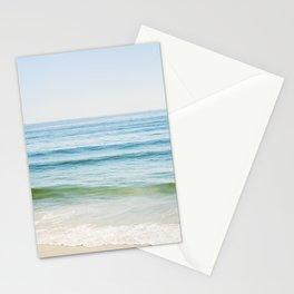 Ocean Seascape Photography, Blue Sea Landscape, Beach Waves Coastal, Seashore Horizon Stationery Cards