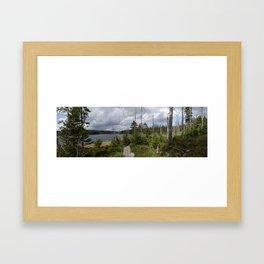 Nature around the lake Framed Art Print
