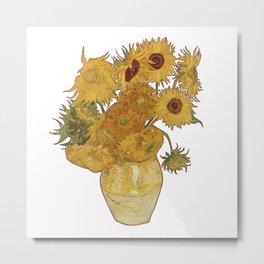 Sunflowers of Van Gogh Metal Print