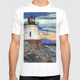 Castle Hill Lighthouse in Newport Rhode Island T-shirt