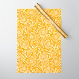Saffron Coneflowers Wrapping Paper