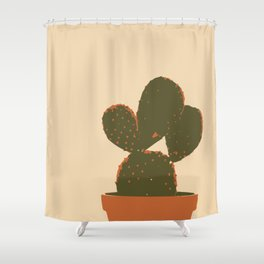 Cactus plant minimalist Shower Curtain
