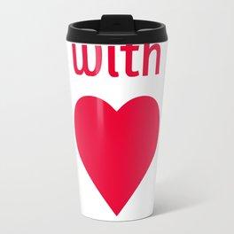 with love Travel Mug