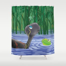 Dragonfly, Turtle And Frog Shower Curtain