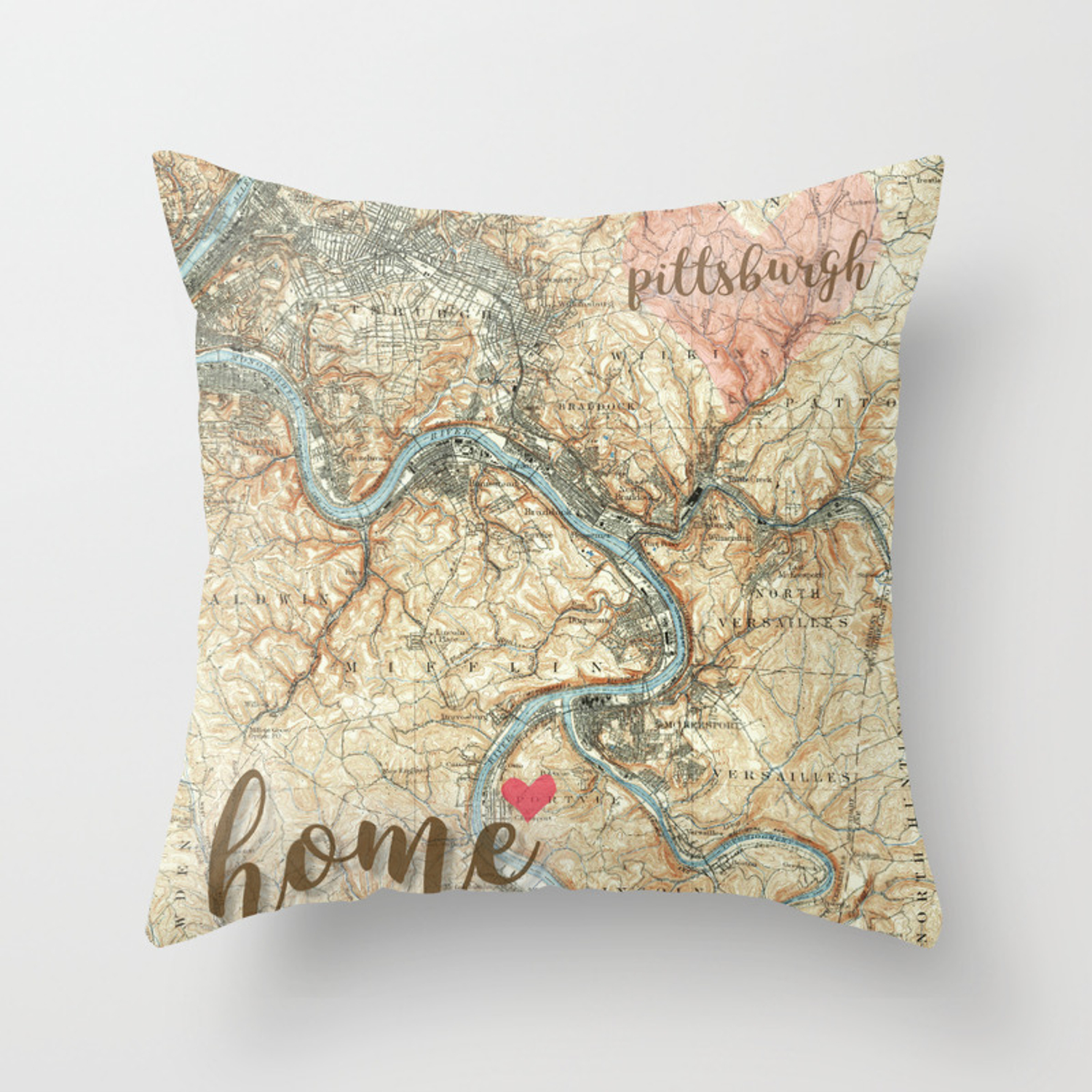Love Pittsburgh Pa Throw Pillow By Kendys Society6