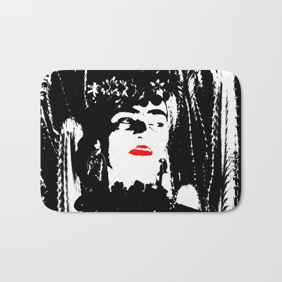 Freeda my Frida Black and White Bath Mat