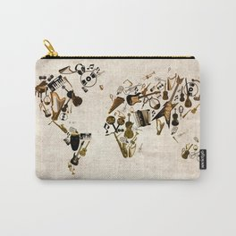 world map music Carry-All Pouch