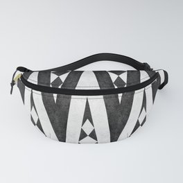 Tribal pattern in black and white. Fanny Pack