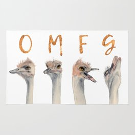 OMFG Ostriches Rug