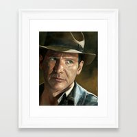 indiana jones Framed Art Prints featuring Indiana Jones by scottmitchell
