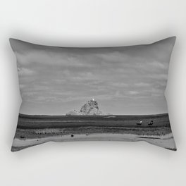 Ninepin Rock at  Whatipu Beach, Huia New Zealand Rectangular Pillow