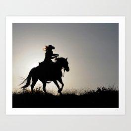 Cowgirl Adventure Art Print