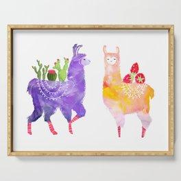 Llama Party Serving Tray
