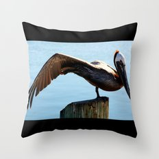 Pelican Wing Throw Pillow