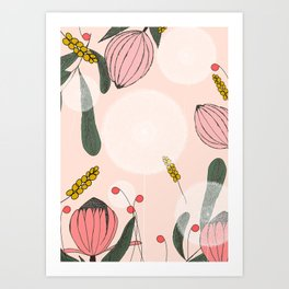 Blushing Blooms Art Print