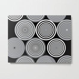 Circles and shades Metal Print