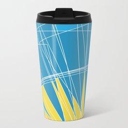 Abstract pattern, digital sunrise illustration Metal Travel Mug